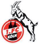 """1. FC Köln Aufkleber """"Geißbock"""", 10 x 15 cm"""