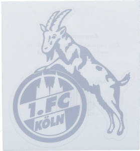 1. FC Köln Aufkleber transparent silberfarben 8x10cm