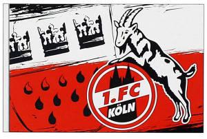 """1. FC Köln Fahne """"Wappen"""" 100 x 150 cm"""
