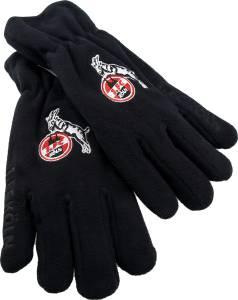 1. FC Köln Fleecehandschuhe schwarz - verschiedene Größen