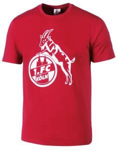 """1. FC Köln Herren T-Shirt """"Basic rot-weiß"""" - verschiedene Größen"""
