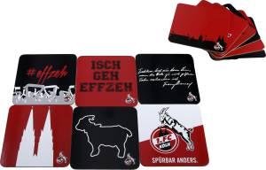 1. FC Köln Untersetzer 9,5x9,5cm, 12-er Set