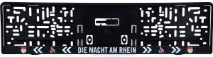 """1. FC Köln Nummernschildhalter """"Die Macht am Rhein"""""""
