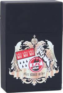 "1. FC Köln Zigarettenbox ""Wappen"" 9 x 6 x 3 cm"