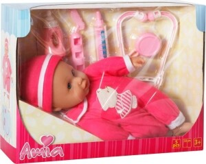 Amia Doktor-Puppe mit Zubehör, 33cm