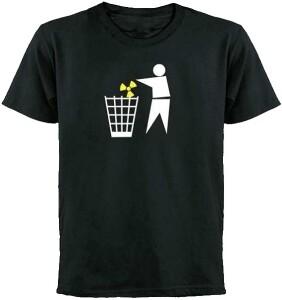 Anti Atomkraft T-Shirt Atommüll, schwarz - verschiedene Größen