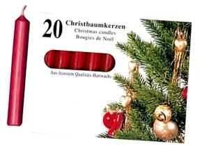 Christbaumkerzen 20 Stück rot