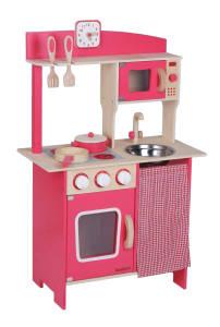 Spielzeug Beeboo Holzküche pink, mit Zubehör