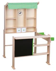 Beeboo Kaufladen hellgrün/weiß, 74x68x97cm.