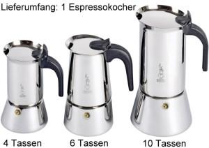 """Bialetti Espressokocher """"Venus Edelstahl"""" - verschiedene Größen"""