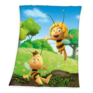 Die Biene Maja Fleecedecke 130x160cm