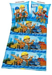 Bob der Baumeister Bettwäsche 135x200cm Flanell