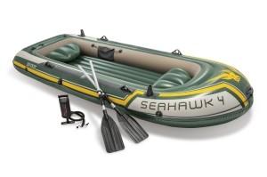 "Intex Schlauchboot ""Seahawk 4"" Set, 351x145x48cm"