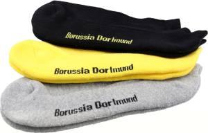 BVB Borussia Dortmund Sneaker-Socken 3er-Set