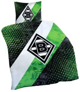Borussia Mönchengladbach Bettwäsche Schrägstreifen 135x200cm