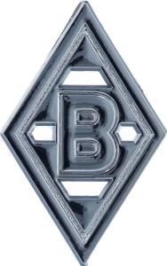 "Borussia Mönchengladbach Auto-Chromlogo ""Raute"" 5x8cm"