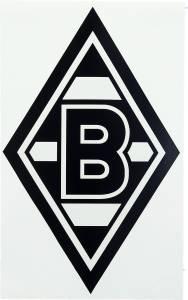 Borussia Mönchengladbach Aufkleber Raute 35x20cm schwarz