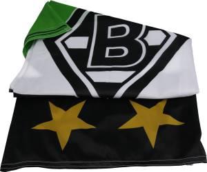 "Borussia Mönchengladbach Hissfahne ""S/W/G"" 150 x 100 cm"