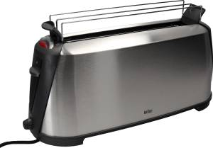 """Braun Toaster """"Sommelier HT 600"""" 38x23x25cm silberfarben/ schwarz, 1000 Watt"""
