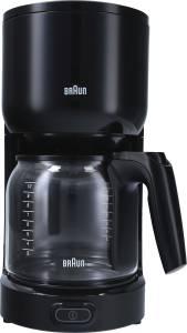 Braun Kaffeemaschine 20x36 cm für 10 Tassen KF 3120 BK, 1000 Watt