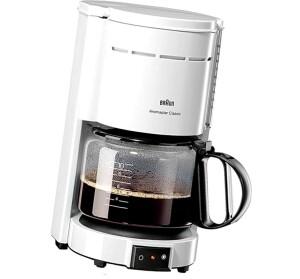Braun Kaffeemaschine Aromaster Classic KF 47/1 weiß, 1000 Watt