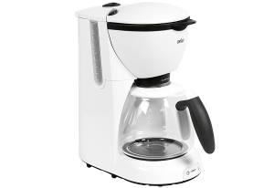 Braun Kaffeemaschine 28 x 16 x 32 cm für 10 Tassen weiß, 1100 Watt