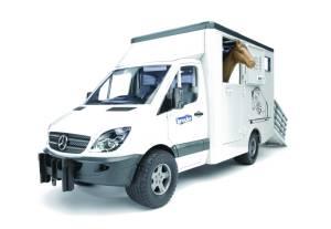 BRUDER MB Sprinter Tiertransporter inkl. Pferd