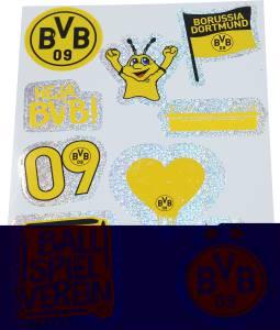 BVB Borussia Dortmund Aufkleberkarte glitzernd