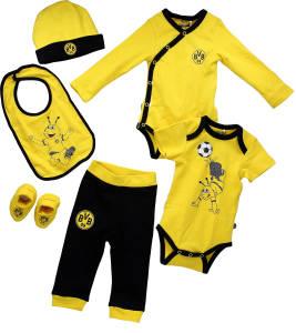 BVB Borussia Dortmund Baby-Geschenkbox 6-teilig, Gr. 62/64