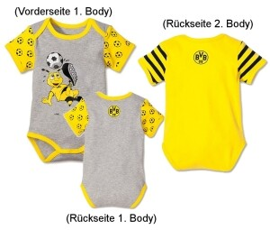 Borussia Dortmund BVB-Babybody 2er-Set Gr.86