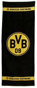 BVB Borussia Dortmund Badetuch Logo, 70x180cm