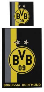 BVB Bettwäsche Streifenmuster, 135x200cm
