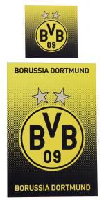 BVB Borussia Dortmund Bettwäsche Punkteverlauf 135x200cm