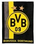 BVB Borussia Dortmund Fleecedecke Streifenmuster 150x200cm