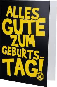 Borussia Dortmund BVB Geburtstags-Grußkarte