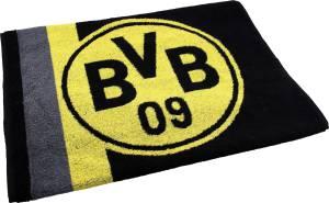 BVB Borussia Dortmund Handtuch Logo und Streifen 50x100cm