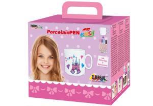 """Hobby Line PorcelainPEN easy, Tassen-Set """"Mädchen"""""""