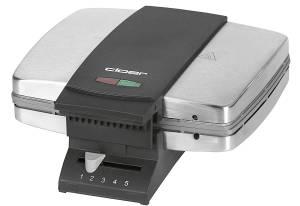 Cloer Zimtwaffelautomat schwarz/ silberfarben, 930 Watt