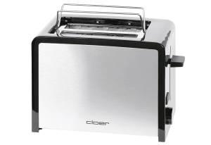 Cloer Toaster 26,5x14,5x18cm silberfarben/ schwarz, 825 Watt