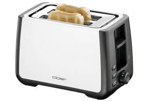 Cloer Toaster für XXL-Scheiben schwarz/ weiß, 1000 Watt