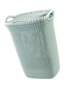 "Curver Wäschesammler ""Knit"" grau-blau ca. 57 Liter"