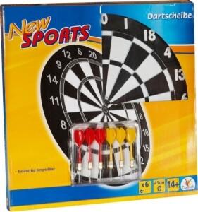 Dartboard NEW SPORTS, inkl. 6 Pfeilen