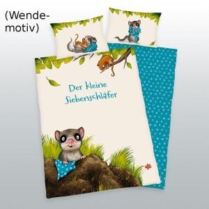 """Baby-Bettwäsche """"Der kleine Siebenschläfer"""" 100x135cm, Flanell"""