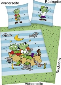 Die Olchis Bettwäsche Olchi-Kinder, 100% Baumwolle