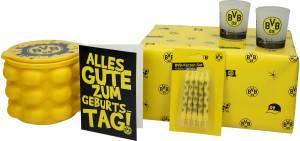 BVB Borussia Dortmund Fanartikel Geschenkset Geburtstag, 4-tlg.