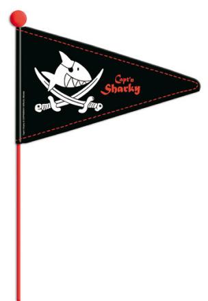 "Fahrradwimpel ""Capt'n Sharky"""