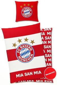 FC Bayern München Bettwäsche 135x200cm rot/weiß, Flanell