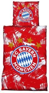 FC Bayern München Bettwäsche rot/weiß 135x200cm