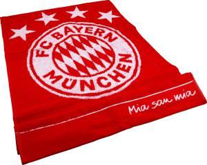 FC Bayern München Duschtuch Emblem rot, 140x70cm