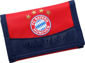 """FC Bayern München Geldbörse """"Mia san mia"""" 9 x 13 x 0,5 cm"""